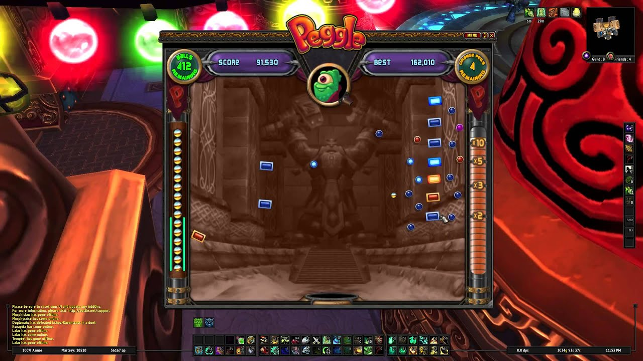 Peggle Wow Cheating at Wow Peggle