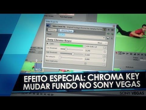 Tutorial Sony Vegas: CHROMA KEY - Como trocar o fundo de um vídeo