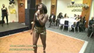 Ms Desire performs at Soca Music Awards London 2012 mc Coco P