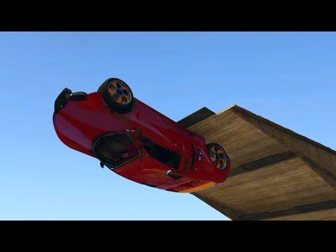 CRAZY WALLRIDE + LOOP RACE GTA V Funny Moments