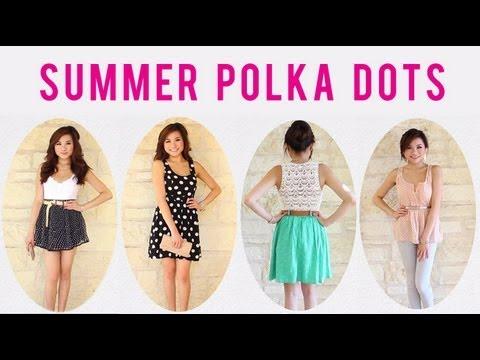 Navy Polka  Dress on Instagrid Me Missejlouie  Outfit 1  Gap Tank  Forever 21 Polka Dot