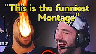 """Nickmercs Reacts to Our Montage """"We Enhanced Nickmercs With This Fortnite Edit"""" - Grumbae"""