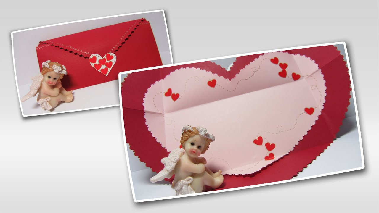 Manualidades san valent n c mo hacer una tarjeta coraz n - Como hacer adornos de san valentin ...