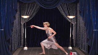 Greta Gerwig Shows Off Her Secret Fencing Talent   Secret Talent Theatre   Vanity Fair