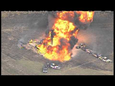 Texas oil pipeline explosion and fire
