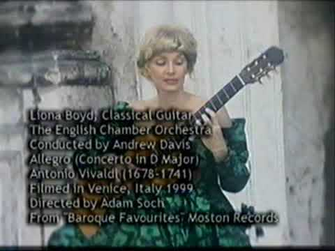 Liona Boyd, guitar - Allegro (Concerto in D Major) by Antonio Vivaldi