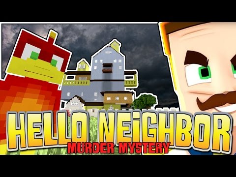 FUNNIEST FAIL EVER !! -|- HELLO NEIGHBOR -|- Minecraft xbox - Murder Mystery