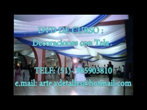fotos decoracion en telas y globos decoraciones con tela youtube
