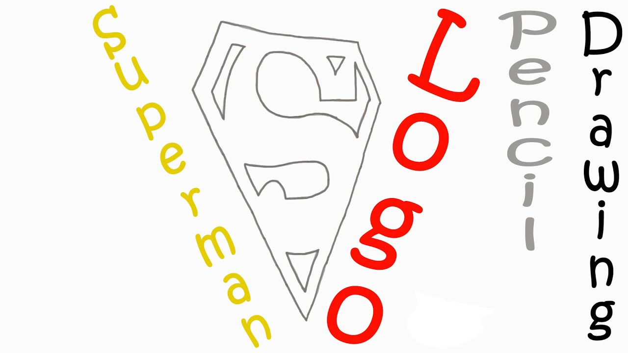 Superman Pencil Drawings Draw The Superman Logo