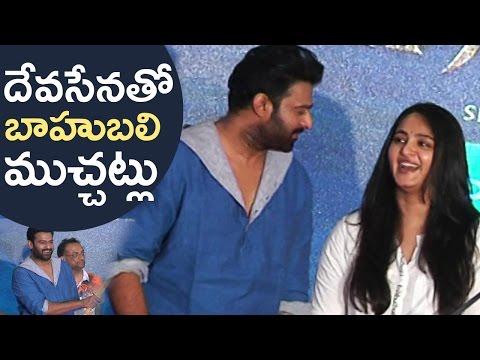 Prabhas And Anushka Making Fun @ Baahubali 2 Movie Press Meet   Fun Moments   TFPC