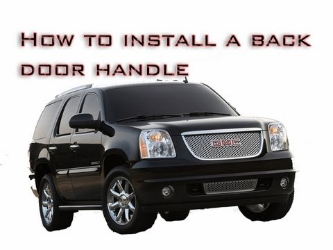 How To Remove Install Rear Door Panel Chevy Trailblazer 02 09 How To Make Do