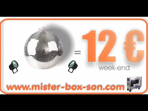 location boule a facette 30 cm par mister box son clermont ferrand youtube. Black Bedroom Furniture Sets. Home Design Ideas