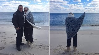 Police Officer Fulfills Dying Woman's Wish to Walk On Beach One Last Time
