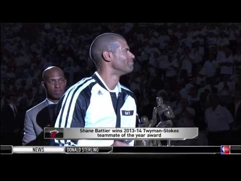 May 25, 2014 - NBATV - Miami Heat's Battier Wins 2013 2014 Teammate of the Year Award