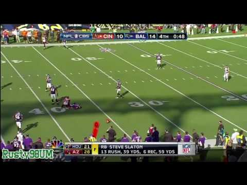 Baltimore Ravens' Ray Lewis lays out Cincinnati Bengals' Chad Johnson (Ochocinco)!!!