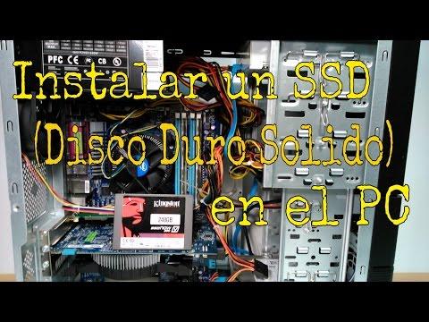 CÓMO INSTALAR UN DISCO DURO SÓLIDO (SSD) EN UN PC