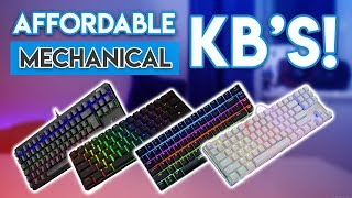 AFFORDABLE Mechanical Keyboard Showdown! [Gaming Keyboards under $50!]