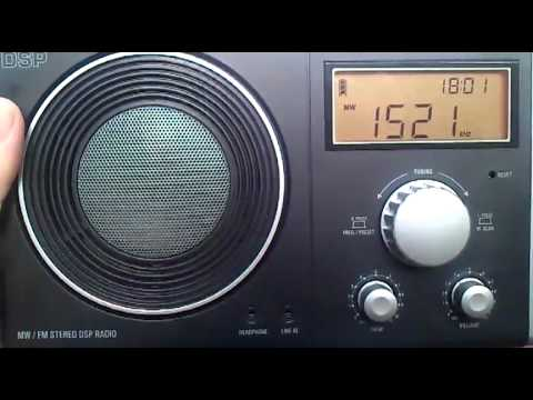 China Radio International on 1521 KHz received in Hungary