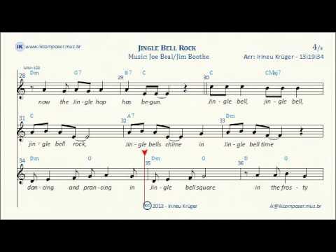 JINGLE BELL ROCK - Lyrics - Sheet music - Karaoke - Chords - YouTube