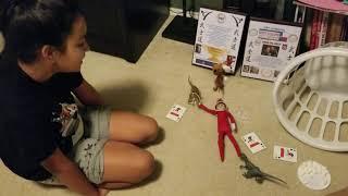 Dino's revenge on Rainbow Dash the Elf