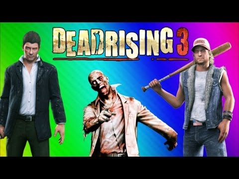 Dead Rising 3 Funny Moments Gameplay - Basics, Lego Mask, Stunt Fails, Burrito (DR3 Co-op)
