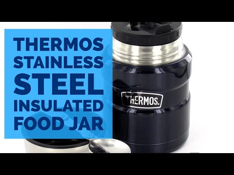 Thermos Stainless Steel Insulated Food Jar Hot Cold