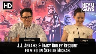 Daisy Ridley & J.J. Abrams Talk Filming on