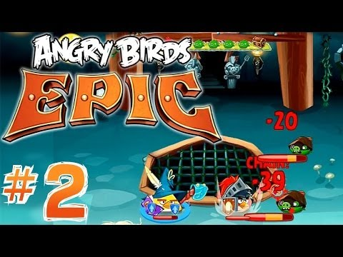 Let's Play Angry Birds Epic #2 - Hats, Banana Juice, Crafting, Magic Items