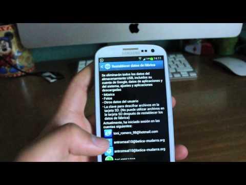 Como Resetear Samsung Galaxy S3/4-  Volver al modo datos fabrica