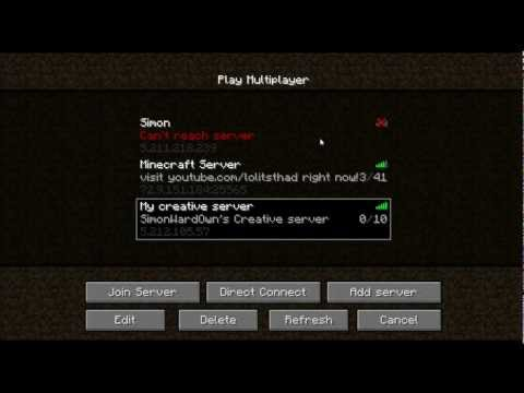 Minecraft online server Creative mode No whitelist or Premium