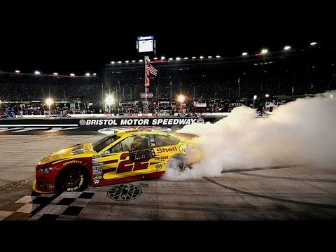Logano battles to the win at Bristol