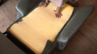 upholstering a recliner chair