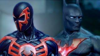 BATMAN BEYOND vs SPIDER-MAN 2099 - ALTERNATE ENDING - Super Power Beat Down