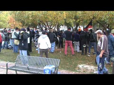Occupy Denver Police Violence Man Shot in Face With Pepper-balls