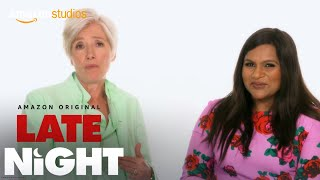 Late Night - Emma Thompson and Mindy Kaling Read Nice Tweets | Amazon Studios