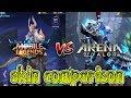 Mobile legends vs Arena of valor skin comparison