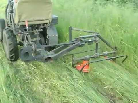 Как на самодельный трактор сделать косилку 958