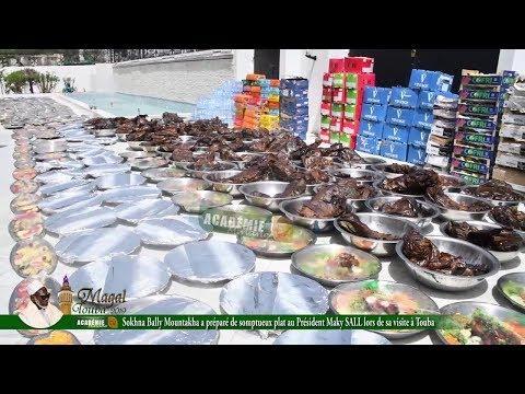 Sokhna Bally Mountakha a préparé de somptueux plats au Président Maky SALL lors de sa visite à Touba