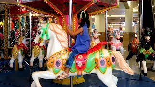 Komedi Putar💖 Hana Naik Kuda Kudaan & Bianglala.🌟 Odong Odong Permainan Anak di Mall