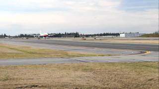 Boeing 747-8i First Flight Takeoff (747-8 Intercontinental)