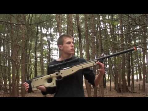 TSD L96 Airsoft Sniper Rifle (V2) Shooting Test
