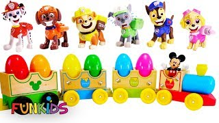 Learn Colors with Paw Patrol Ultimate Train Rescue with Surprise Egg