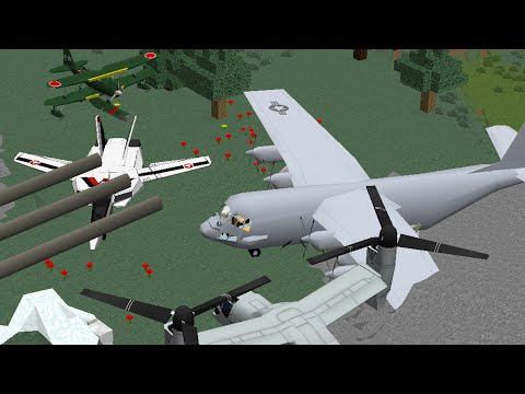Realistic Planes. Helicopters and Turrets Mod   Episode 1081   iPodmail Minecraft Mod Review