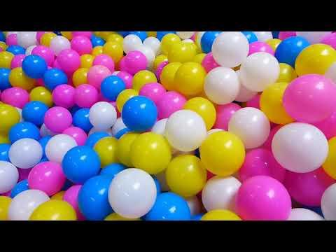 Nowa Sala Zabaw Dla Dzieci Z Kolorowymi Kulkami Huśtawka Nad Kulkami Super Zabawa NEW