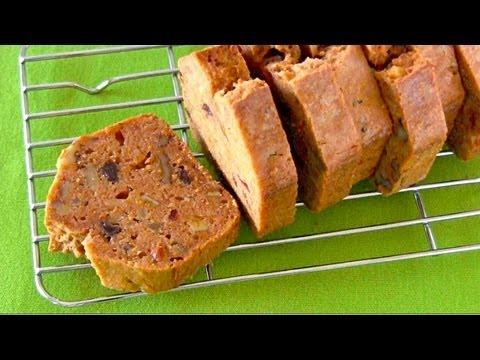 Sugar-Free Carrot Cake (Pound Cake Recipe) 簡単にんじんパウンドケーキ (レシピ)