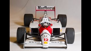 Tamiya 1/20 Senna McLaren Honda MP4 4 Plastic Model build Photos