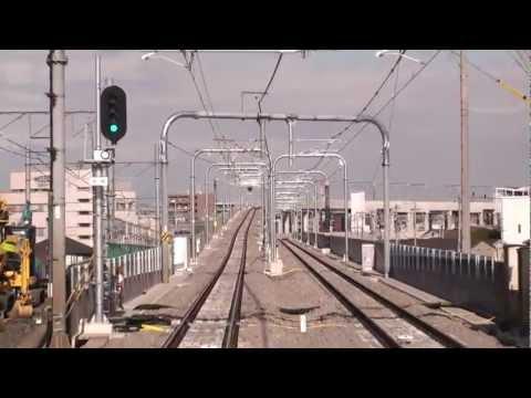 【FHD】2011-12 名鉄 太田川駅 高架3F 前面展望