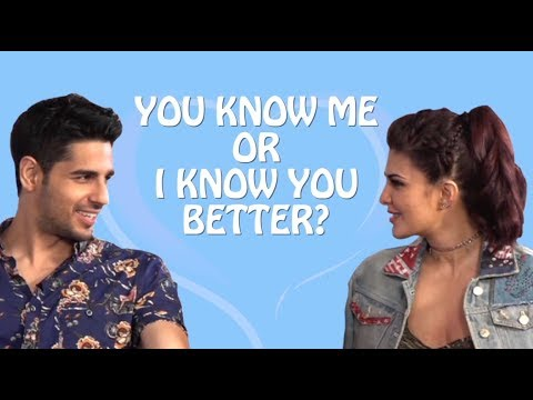 Exclusive| Jacqueline Fernandez and Sidharth Malhotra take up the Compatibility test!