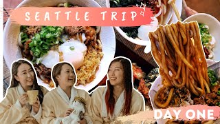 DAY ONE: HEADING TO SEATTLE WITH MY GIRLS! - PIKE PLACE - SEATTLE FOOD GUIDE - SEATTLE VLOG