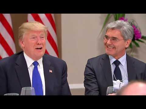 Davos: Donald Trump erntet Lob von europäischen Top-Unternehmern